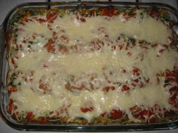 lasagna baked top