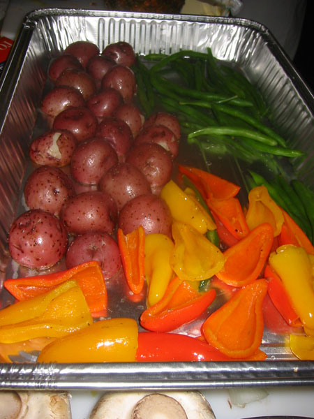potatoes and veggies