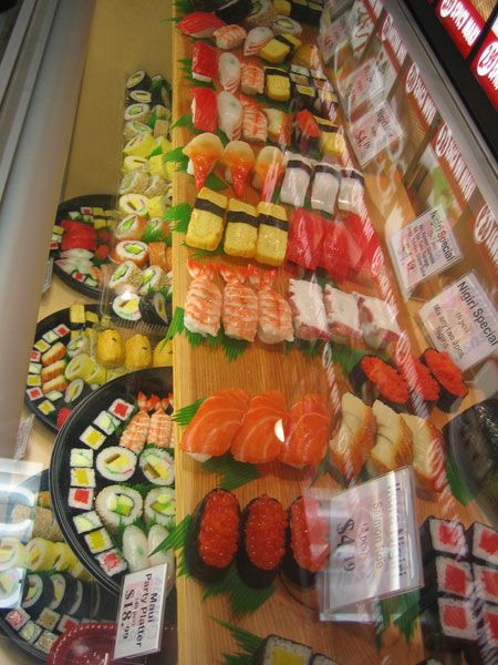 aloha sushi display