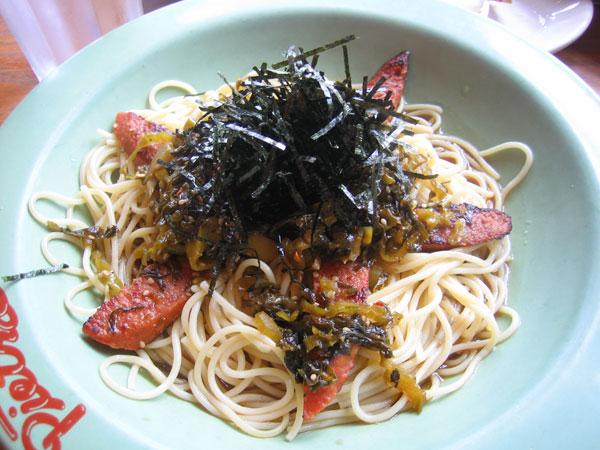 takana and sausage pasta