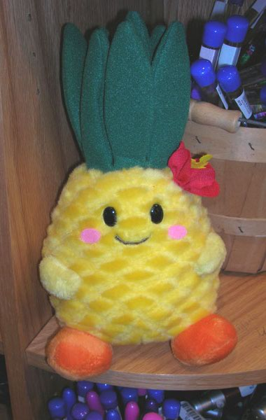 happy plush pineapple