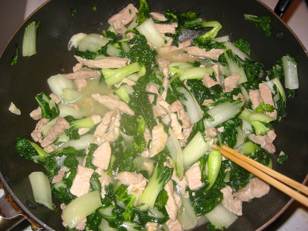 pork and bok choy